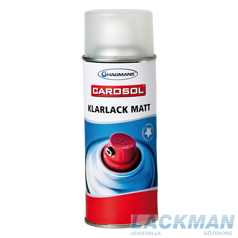 hagmans carosol 1k klarlack matt 400 ml lackman webbshop. Black Bedroom Furniture Sets. Home Design Ideas
