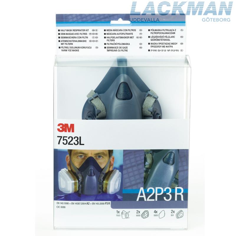 Toppen 3M Halvmask startpaket A2P3 - Lackman webbshop BY-83